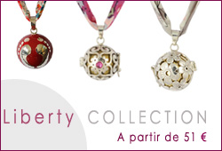 bolas de grossesse argent tissu liberty