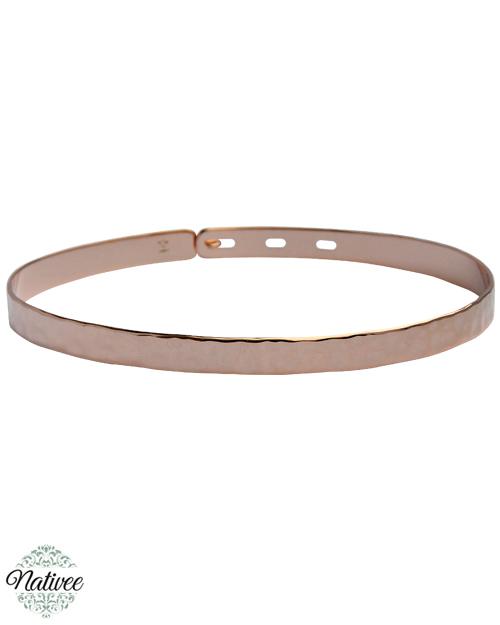 bracelet femme rose or