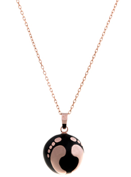 Collier bola de grossesse hermosa or rose