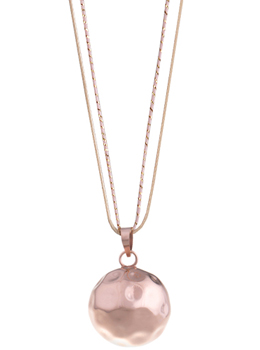 Collier bola grossesse balinais or rose julia
