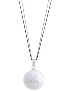 Pendentif bola grossesse argent White Baby